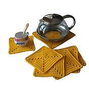 Для дома и интерьера handmade. Livemaster - original item Stand under a hot under the mugs, the kettle, yellow. Handmade.
