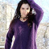 Одежда handmade. Livemaster - original item Fluffy purple sweater. Handmade.