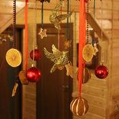 Цветы и флористика ручной работы. Ярмарка Мастеров - ручная работа новогодняя подвеска с птицами. Handmade.