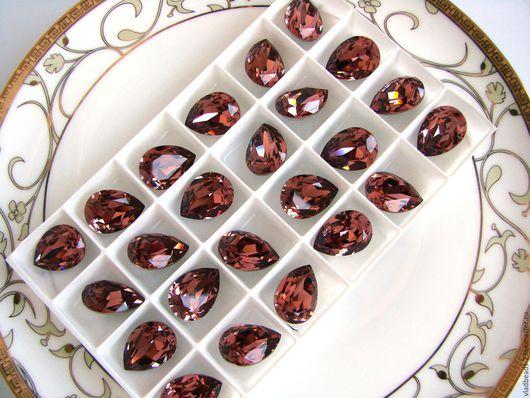 Для украшений ручной работы. Ярмарка Мастеров - ручная работа. Купить Капли Swarovski 18х13мм Blush rose. Handmade.