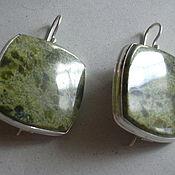 Украшения handmade. Livemaster - original item Elegant earrings SERPENTINE,silver.. Handmade.