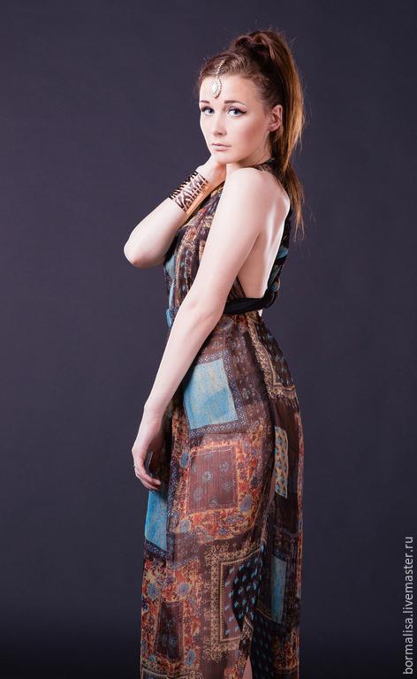 """Платья ручной работы. Ярмарка Мастеров - ручная работа. Купить Платье """"Шахеризада"""". Handmade. Пейсли, этническое платье, купить платье"""