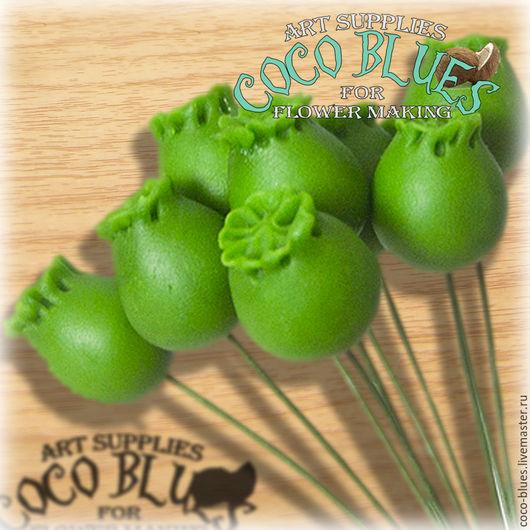 Коробочки (серединки) мака 10 шт Изготовлены из полимерной глины Ручная работа.   `Кокосов Блюз` Таиланд  © Coco Blues (Thailand) Co. Ltd