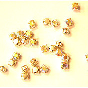 Материалы для творчества handmade. Livemaster - original item 10pcs Rhinestone caps Crystal AB ss20 4,6-4,8 mm Czech round sewn crab. Handmade.