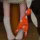 Куклы тыквоголовки ручной работы. Кукла,,Розочка,,. Елена (elenadollworld). Ярмарка Мастеров. Рыжий, заяц, холофайбер, прошва