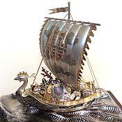 Винтаж handmade. Livemaster - original item The treasure ship Takarabune Japan Takehiko 985 silver. Handmade.