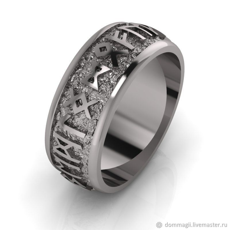 Ring with runes. The Circle Of Odin, Amulet, Moscow,  Фото №1