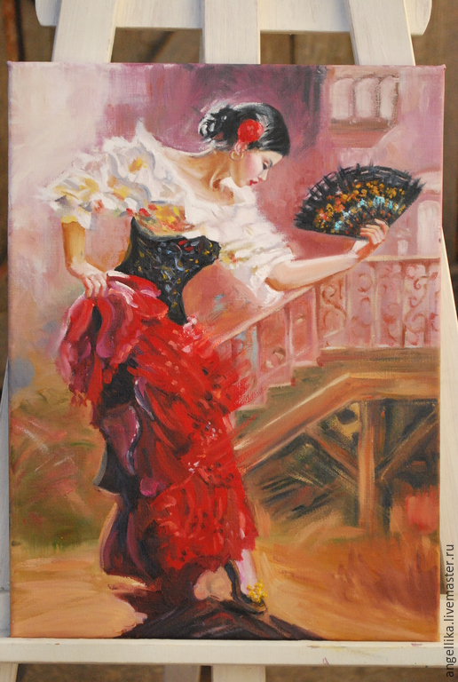 Люди, ручной работы. Ярмарка Мастеров - ручная работа. Купить Танцовщица. Handmade. Разноцветный, фламенко, кружево, Испанка