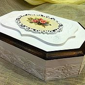 """Для дома и интерьера ручной работы. Ярмарка Мастеров - ручная работа Шкатулка """"Нежный букет"""". Handmade."""