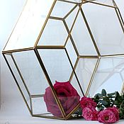 Свадебный салон handmade. Livemaster - original item Golden Floriana. candle holder. Honeycomb box. Design wedding. Handmade.