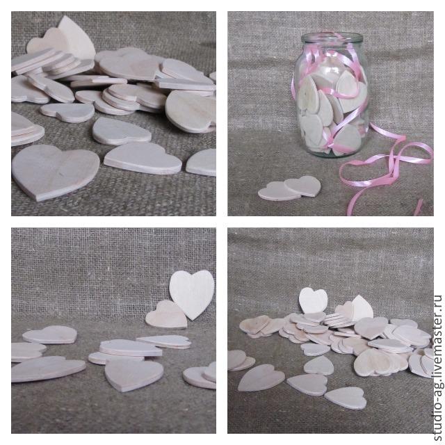 Сердечки 4,5х5см(30шт), Заготовки для декупажа и росписи, Москва, Фото №1