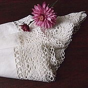 Винтаж handmade. Livemaster - original item Cover pillow, cotton, dimensional lace. Handmade.