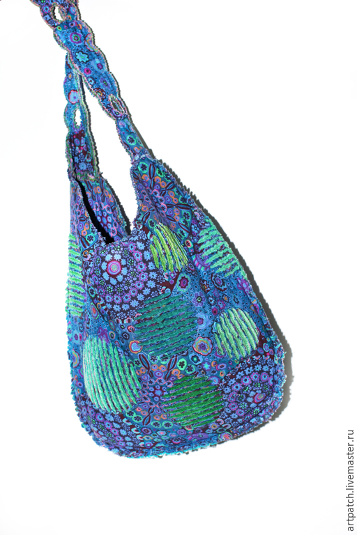 """Женские сумки ручной работы. Ярмарка Мастеров - ручная работа. Купить Сумка """"Море, солнце, горы..."""" из 100% американского хлопка. Handmade."""