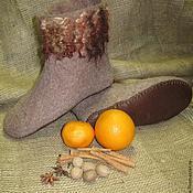 """Обувь ручной работы. Ярмарка Мастеров - ручная работа Валеночки для дома """"Глинтвейн"""". Handmade."""