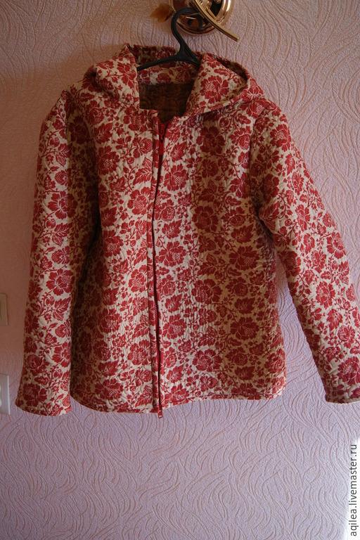 Верхняя одежда ручной работы. Ярмарка Мастеров - ручная работа. Купить стеганая курточка. Handmade. Разноцветный, летняя куртка