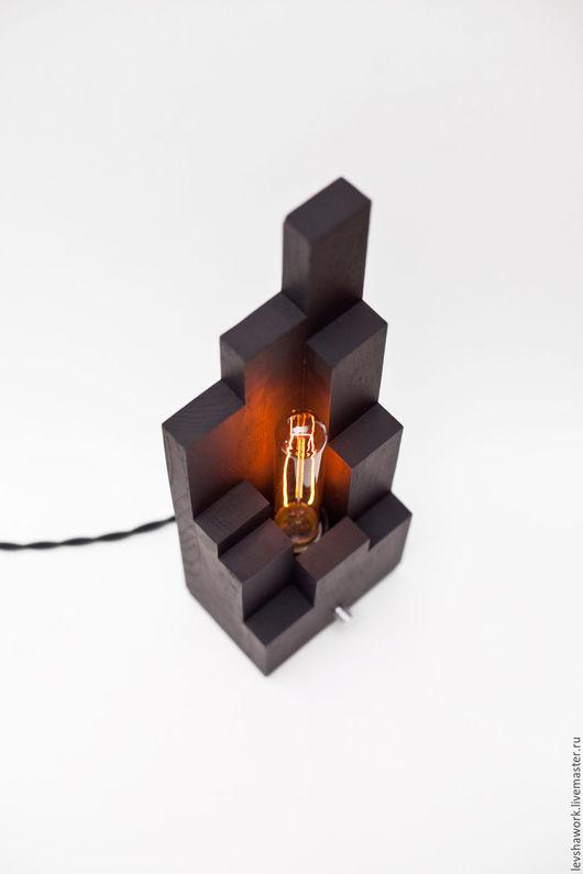 """Освещение ручной работы. Ярмарка Мастеров - ручная работа. Купить Настольная лампа Эдисона """"Tower"""". Handmade. Черный, ручная работа"""