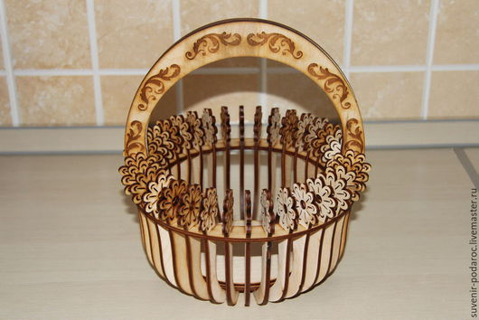 Кухня ручной работы. Ярмарка Мастеров - ручная работа. Купить Корзинка. Handmade. Бежевый, натуральное дерево, украшение для интерьера