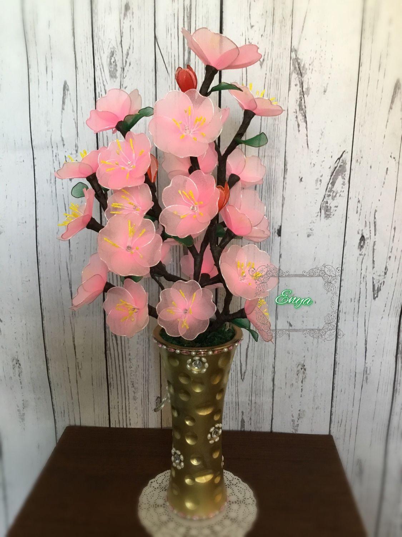 Мастер класс цветы из капрона фото
