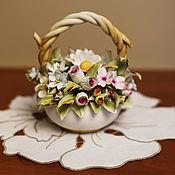 Винтаж handmade. Livemaster - original item Bouquet of porcelain, handmade and painted. Handmade.