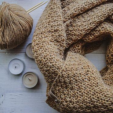"""Аксессуары ручной работы. Ярмарка Мастеров - ручная работа Вязаный желтый шарф """"Ohra"""". Handmade."""
