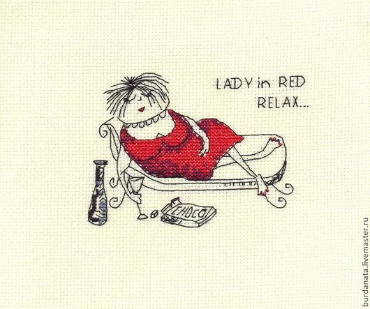 Люди, ручной работы. Ярмарка Мастеров - ручная работа. Купить LADY in RED и др. сувениры. Handmade. Дама, настроение