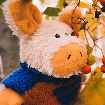 Куклы и игрушки ручной работы. Ярмарка Мастеров - ручная работа Игрушки: Поросёнок Хрюкус. Handmade.