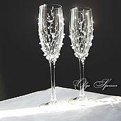 Бокалы ручной работы. Ярмарка Мастеров - ручная работа Свадебные бокалы Жемчужные. Handmade.