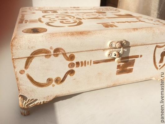 Шкатулки ручной работы. Ярмарка Мастеров - ручная работа. Купить Шкатулка для украшений Beige Keys. Handmade. Бежевый, шкатулка для украшений