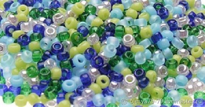 10g Miyuki 11/0 mix 14 round gemstones, Japanese beads, Beads, Chelyabinsk,  Фото №1