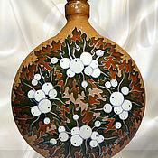 Посуда handmade. Livemaster - original item Bottle-kumanets the Snowberry, stained glass painting on ceramics. Handmade.
