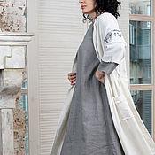 Пальто ручной работы. Ярмарка Мастеров - ручная работа Летнее пальто Лондон 2 льняное. Handmade.
