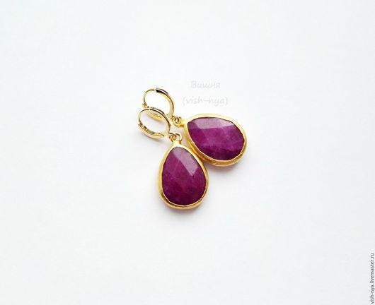 """Серьги ручной работы. Ярмарка Мастеров - ручная работа. Купить Серьги """"Purple plum"""". Handmade. Бордовый, пурпурный, пурпурный цвет"""