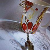 Утварь ручной работы. Ярмарка Мастеров - ручная работа Чайная ложка с инициалами из мельхиора. Handmade.