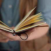 Канцелярские товары ручной работы. Ярмарка Мастеров - ручная работа Блокнот кожаный коричневый / ежедневник из кожи. Handmade.