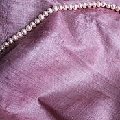 Материалы для творчества ручной работы. Ярмарка Мастеров - ручная работа Натуральный шелк антикварный, бледно-розовый. Handmade.
