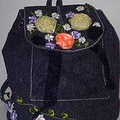 """Рюкзаки ручной работы. Ярмарка Мастеров - ручная работа Джинсовый рюкзачок """"Изящество"""". Handmade."""