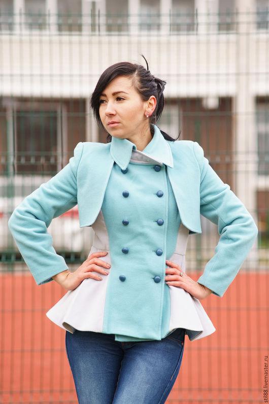 Верхняя одежда ручной работы. Ярмарка Мастеров - ручная работа. Купить Пальто баска BASCO. Handmade. Тёмно-бирюзовый, баска