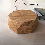 Сувениры и подарки handmade. Livemaster - original item Quick wireless charger (charging) made of wood. Handmade.
