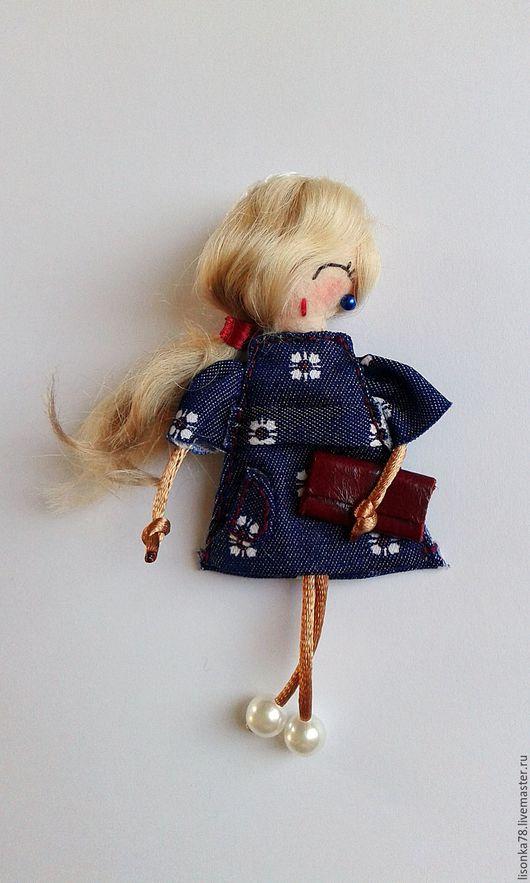 Броши ручной работы. Ярмарка Мастеров - ручная работа. Купить Брошь-куколка из фетра. Handmade. Комбинированный, броши, куколка