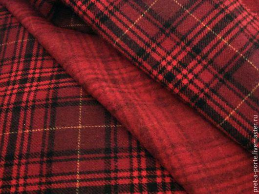 Шитье ручной работы. Ярмарка Мастеров - ручная работа. Купить D&G шерсть костюмно-пальтовая отрез, Италия. Handmade. Бордовый