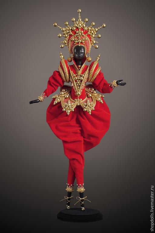 Коллекционные куклы ручной работы. Ярмарка Мастеров - ручная работа. Купить Кукла Принц восточный в красном. Handmade. Ярко-красный