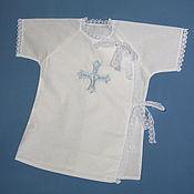 Работы для детей, handmade. Livemaster - original item Christening swing shirt. Handmade.