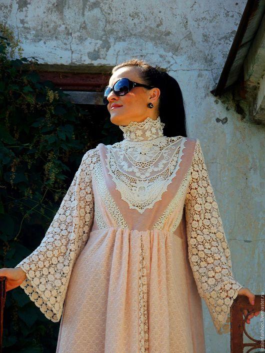Платья ручной работы. Ярмарка Мастеров - ручная работа. Купить Ажурное платье (№3). Handmade. Кремовый, платье из ангоры