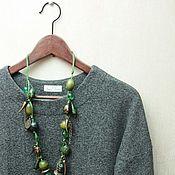 Одежда ручной работы. Ярмарка Мастеров - ручная работа Свитшот женский серый. Handmade.