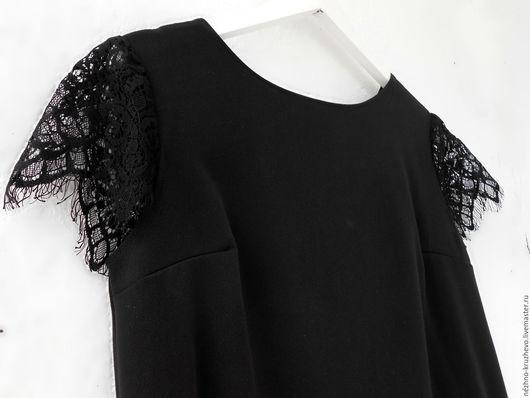 Платья ручной работы. Ярмарка Мастеров - ручная работа. Купить Черное платье  Черное прямое прямое Маленькое черное платье. Handmade.