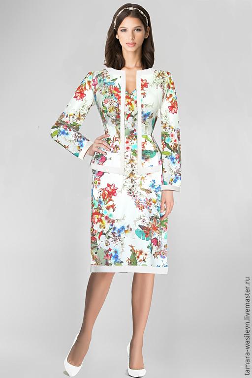 """Шитье ручной работы. Ярмарка Мастеров - ручная работа. Купить Джинс Blumarine """"Аврора"""". Handmade. Италия, костюм, деловое платье"""