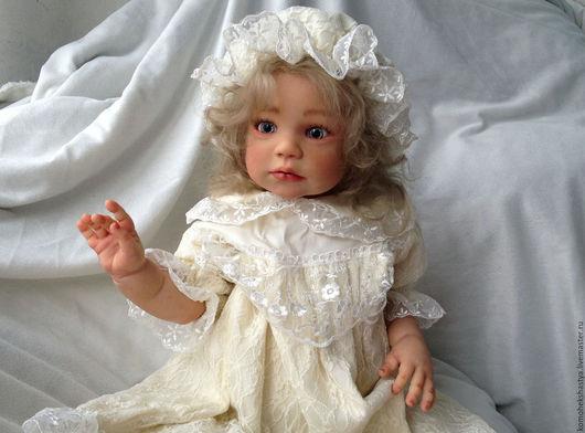 Куклы тыквоголовки ручной работы. Ярмарка Мастеров - ручная работа. Купить Кукла реборн Ева.. Handmade. Кремовый, генезис