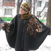 """Пальто ручной работы. Ярмарка Мастеров - ручная работа Пальто-пончо """"Очей очарованье"""" с вышивкой. Handmade."""