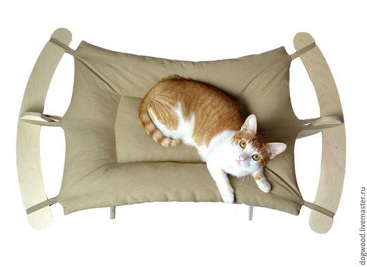 Аксессуары для кошек, ручной работы. Ярмарка Мастеров - ручная работа. Купить Гамак для крупных кошек и котов - Бежевый мягкий. Handmade.