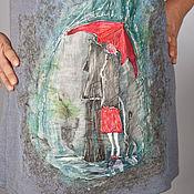 Одежда ручной работы. Ярмарка Мастеров - ручная работа Двое под красным зонтом. Handmade.
